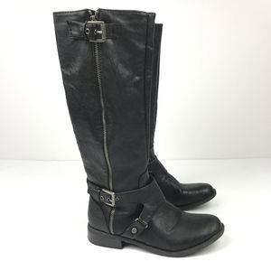 G by Guess Shoes - G by Guess Tall Knee High Black Boots with Buckles